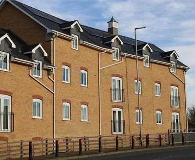 Purpose built construction of Riverside Court, Biggleswade - 16 residential flats